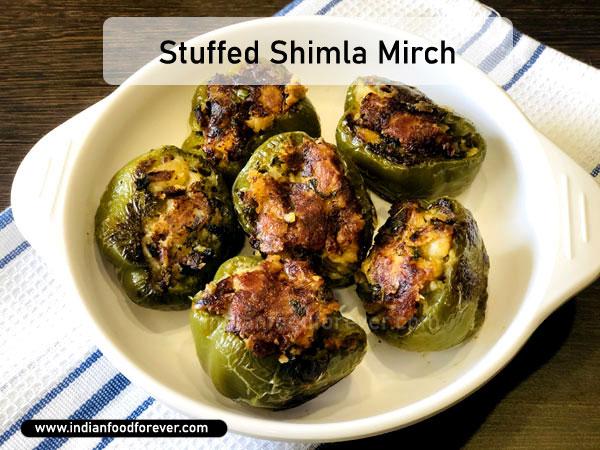 "<strong><a href=""https://www.indianfoodforever.com/vegetables/stuffed-capsicum.html"">Stuffed Shimla Mirch</a></strong>"