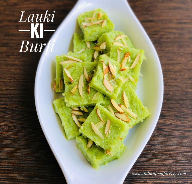 Lauki Ki Burfi Using Milk Powder