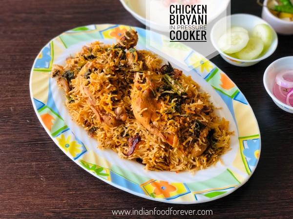 Chicken Biryani in Pressure Cooker
