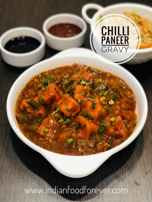 "<a href=""https://www.indianfoodforever.com/indo-chinese/chilli-paneer-gravy.html""><strong>Chilli Paneer Gravy</strong></a>"