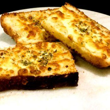 Garlic bread with bread slices