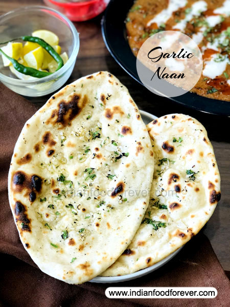 """<strong><a href=""""https://www.indianfoodforever.com/indian-breads/garlic-naan-on-tawa.html"""">Garlic Naan On Tawa</a></strong>"""
