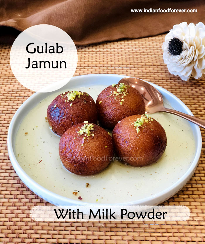 "<strong><a href=""https://www.indianfoodforever.com/desserts/gulab-jamun-with-milk-powder.html"">Gulab Jamun</a></strong>"