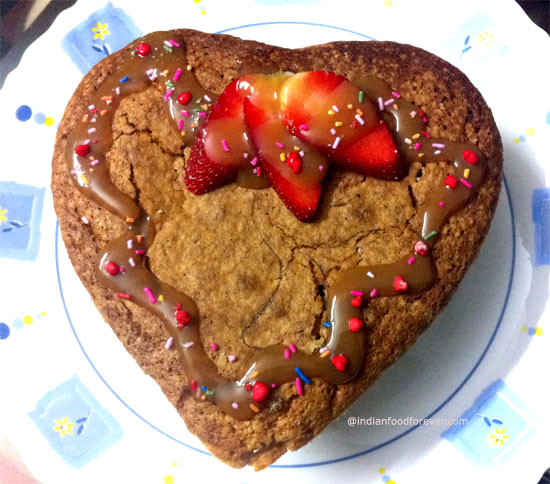 Heart Shape Eggless Chocolate Cake