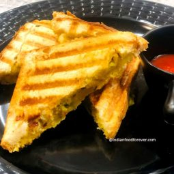 Indian Style Aloo Masala Grilled Sandwich