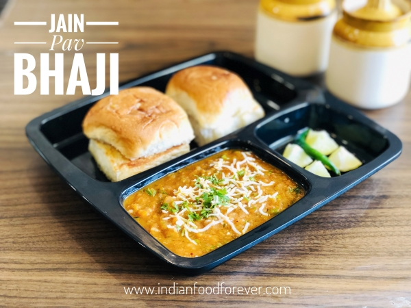 Jain Pav Bhaji Without Potato  And Onion Garlic