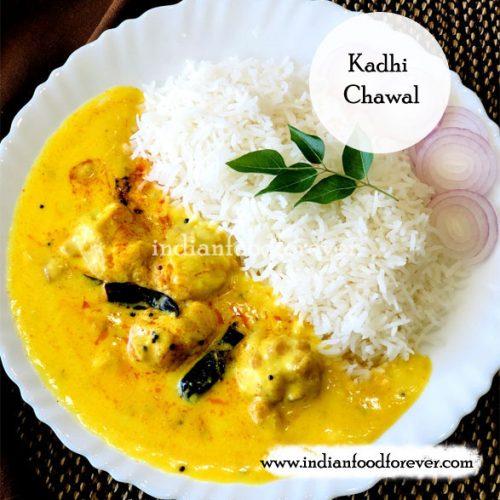 Kadhi Chawal Punjabi Style