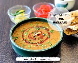 Low calorie healthy dal makhani