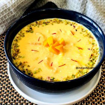 Mango Kheer with Rice