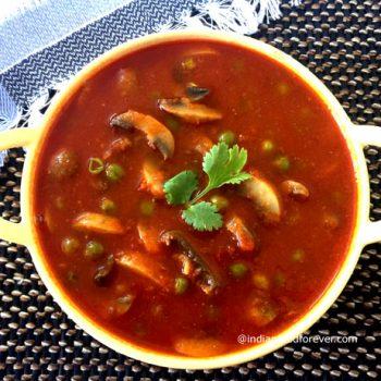 Matar Mushroom without Onion Garlic
