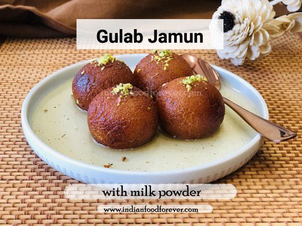 gulab jamun with milk powder