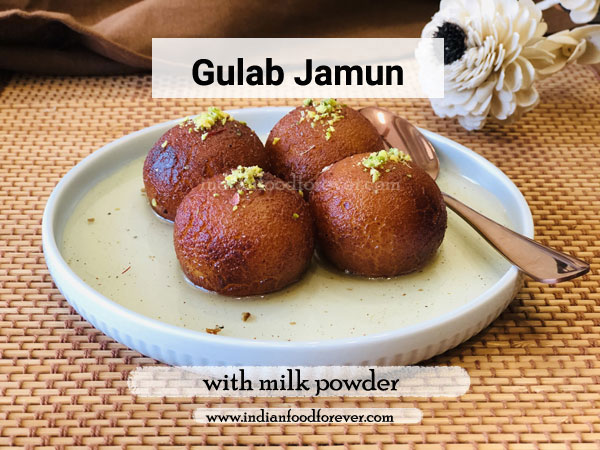 gulab jamun with milk powder