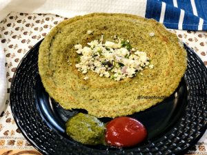 Moong Dal Cheela with Paneer Stuffing