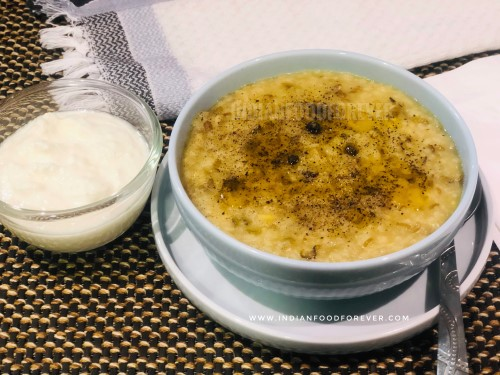 """<strong><a href=""""https://www.indianfoodforever.com/daal/moong-dal-khichdi.html"""">Moong Dal Khichdi</a></strong>"""