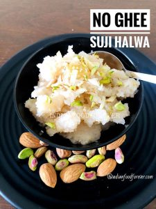 No Ghee Suji Halwa