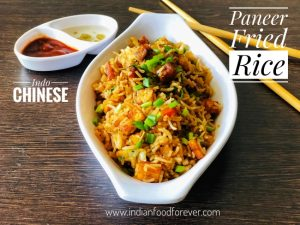 Paneer Fried Rice Easy