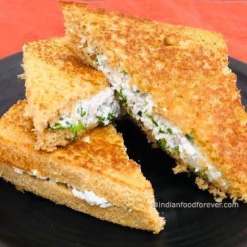 Paneer Sandwich On Tawa
