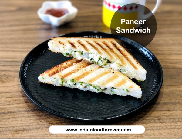 Grilled Paneer Sandwich Indian Cottage Cheese Sandwich No Cook Paneer