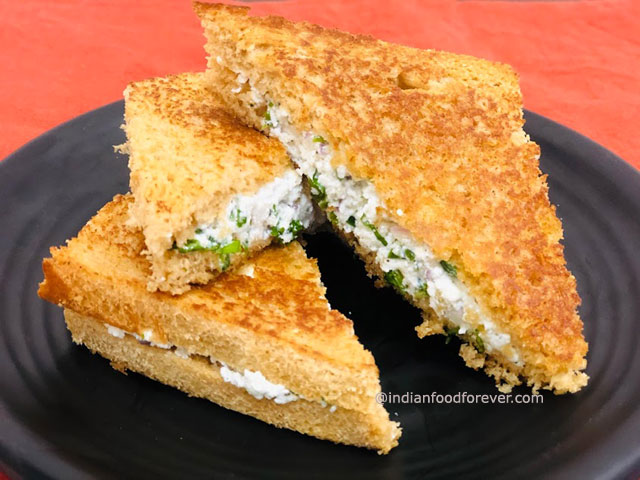 Paneer Sandwich On Tawa