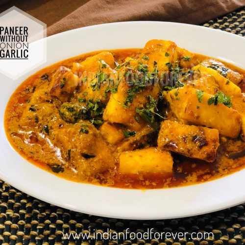Paneer Without Onion Garlic
