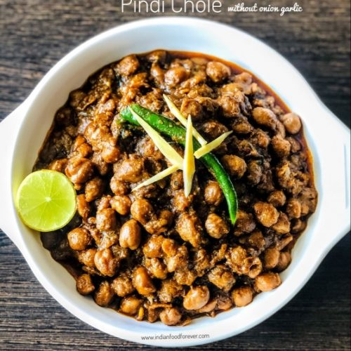 Pindi Chole No Onion Garlic