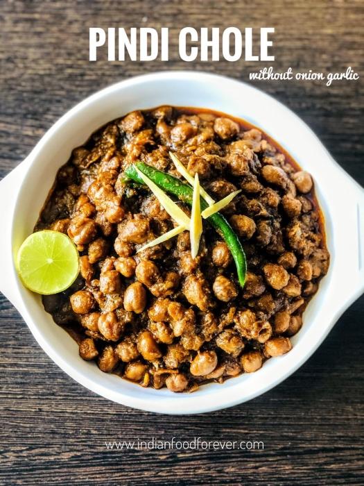 Pindi Chole Without Onion Garlic