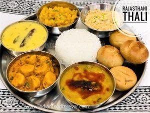 Rajasthani Thali Recipe