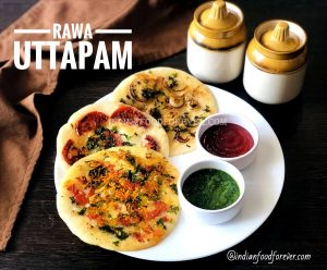 Rava Uttapam For Breakfast
