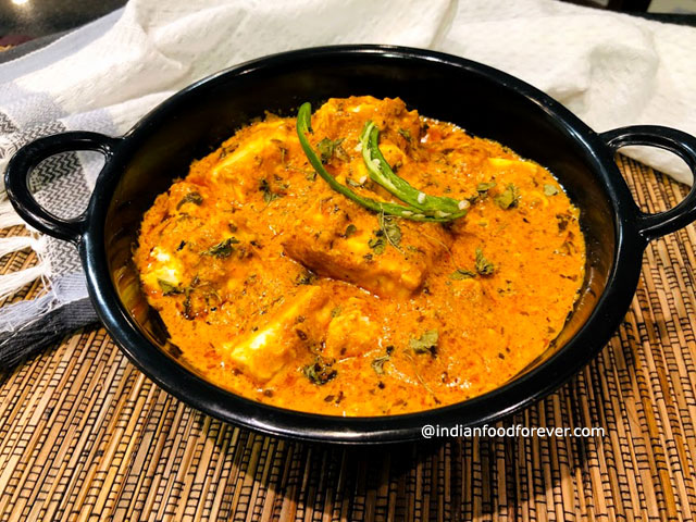 Shahi Paneer Without Cream