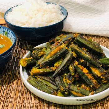 Stuffed Bhindi with Besan