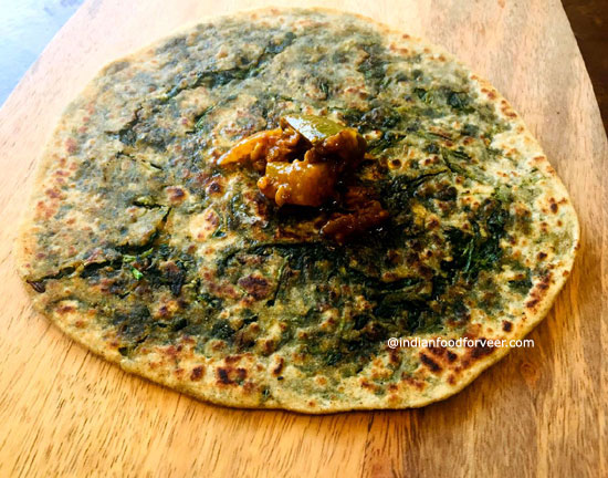 Stuffed Methi Paratha