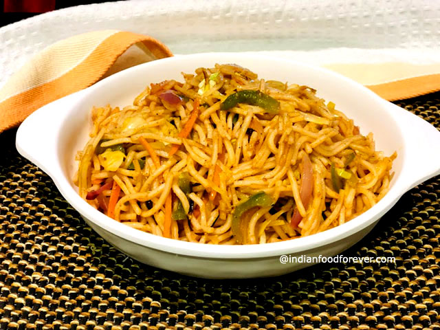 Veg Chowmein Indian Style