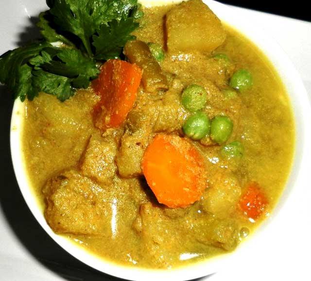Vegetable Nilgiri Korma