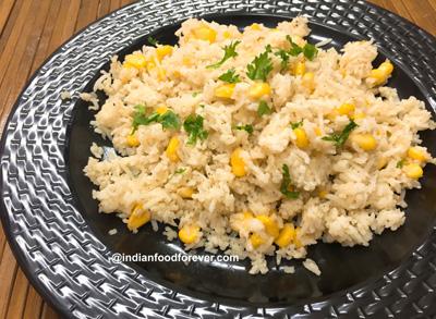 Sweet Corn Leftover Rice Recipe